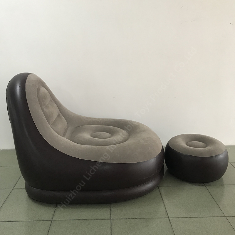 LC Factory Inflatable Air Chair Needlepoint Sofa Bed Ultra Lounge & Ottoman