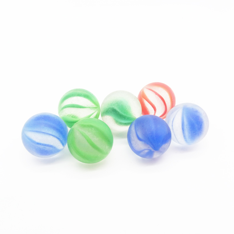 wholesale  high quality bulk custom clear transparent toy frosted Glass Marbles for kids