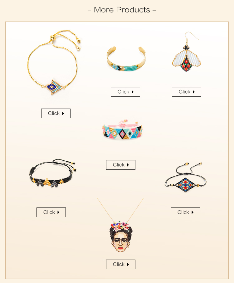 MI-S180050 Moyamiya Miyuki Delica 2019 Beads Geometric Women Pendants Jewelry Set Custom Necklace Bracelet Earring Wholesale