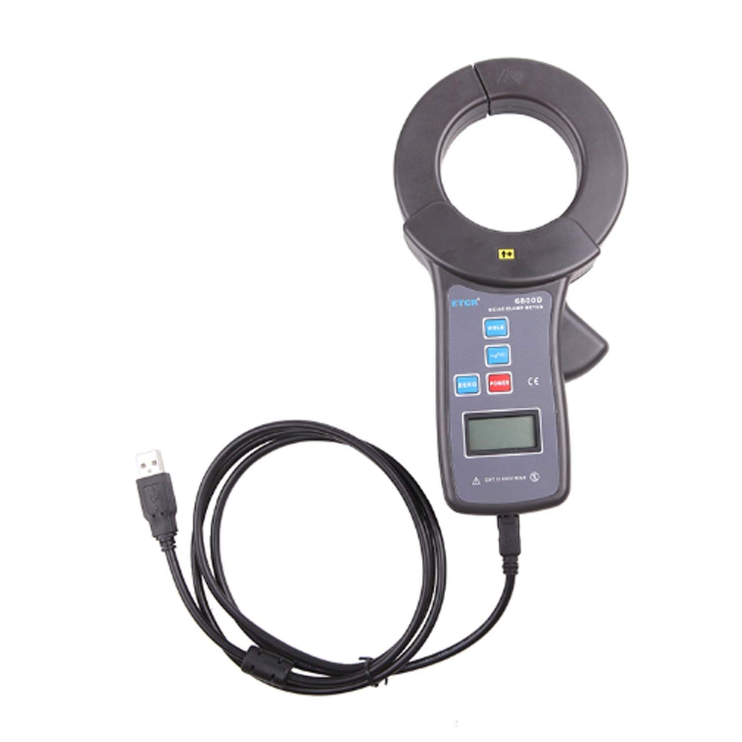 Earth Resistance Tester Meter USB interface digital clamp ammeter with ETCR6800D 0~2000A AC DC Leakage Current Clamp Meter ETCR6800D
