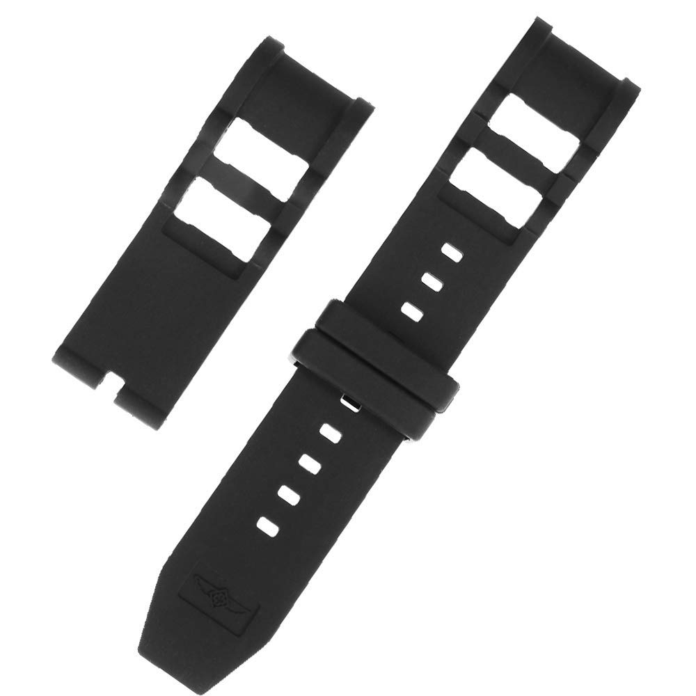 Silicone Rubber Watch Band Strap Watch Band Replacement Strap for Invicta Russian Diver 26MM Black #4