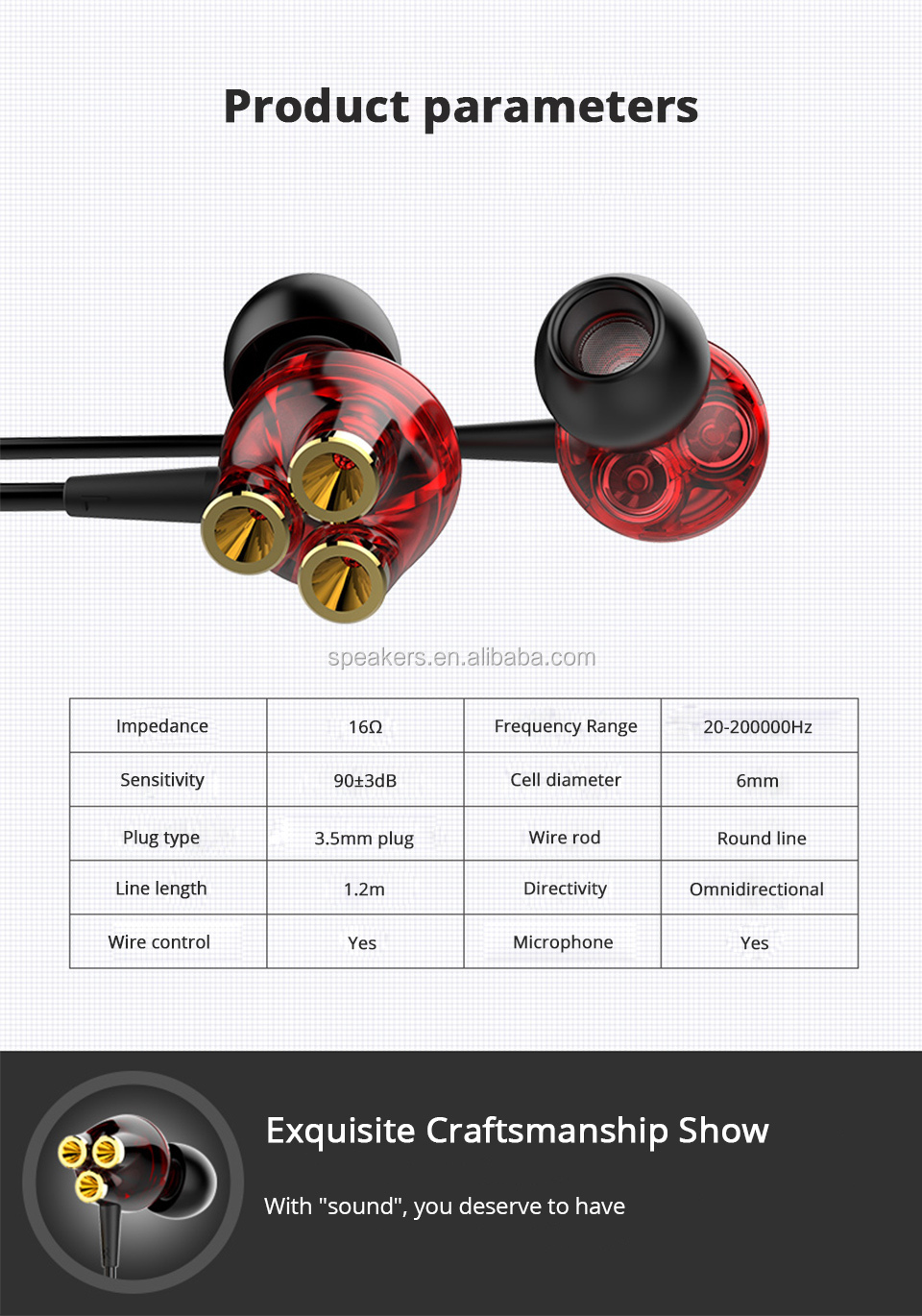 3.5mm Headset Gamer 6 Dynamische Driver Unit In-Ear Bass Stereo Sport Oordopjes Headset met MICROFOON Voor Telefoon computer PC gaming