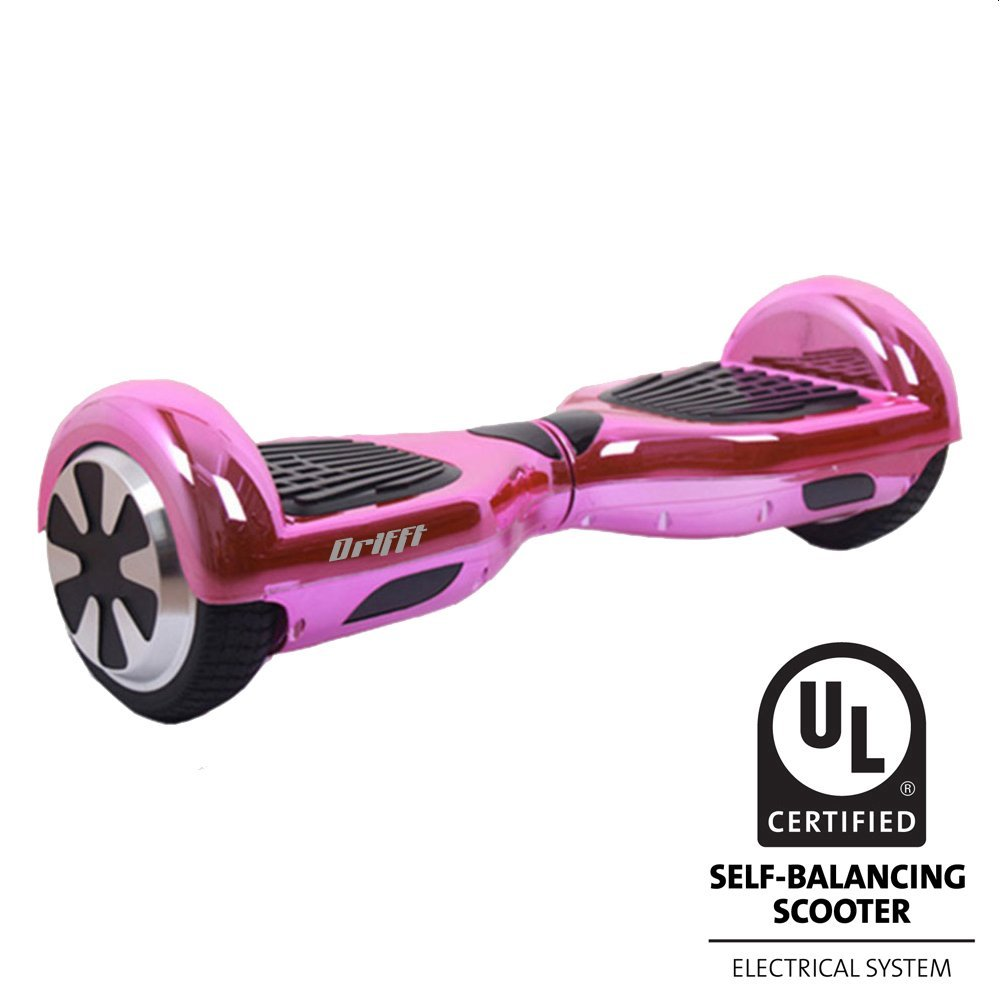 "Pink Chrome Hoverboard 6.5"" UL 2272 Certified - Electric Self-Balancing Scooter"