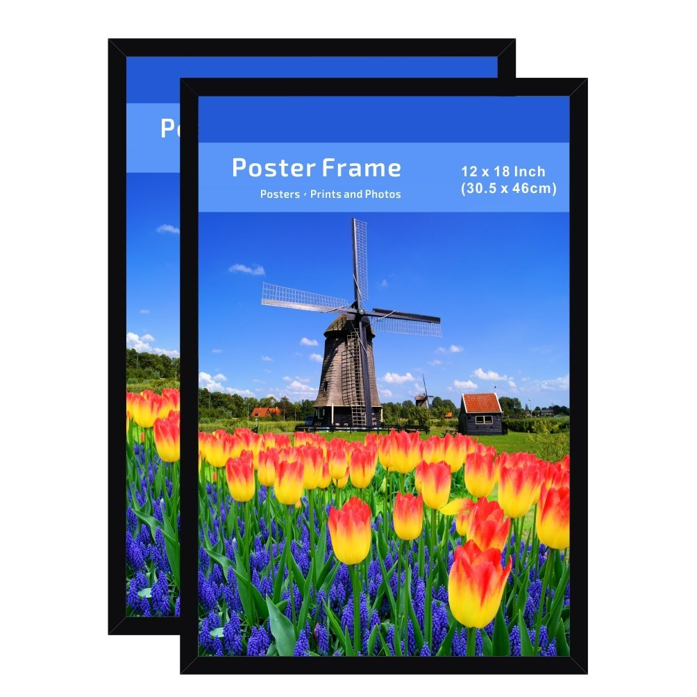 Buy Poster Photo Picture Frame 12 By 18 Inch 2 Pack Pre Assembled