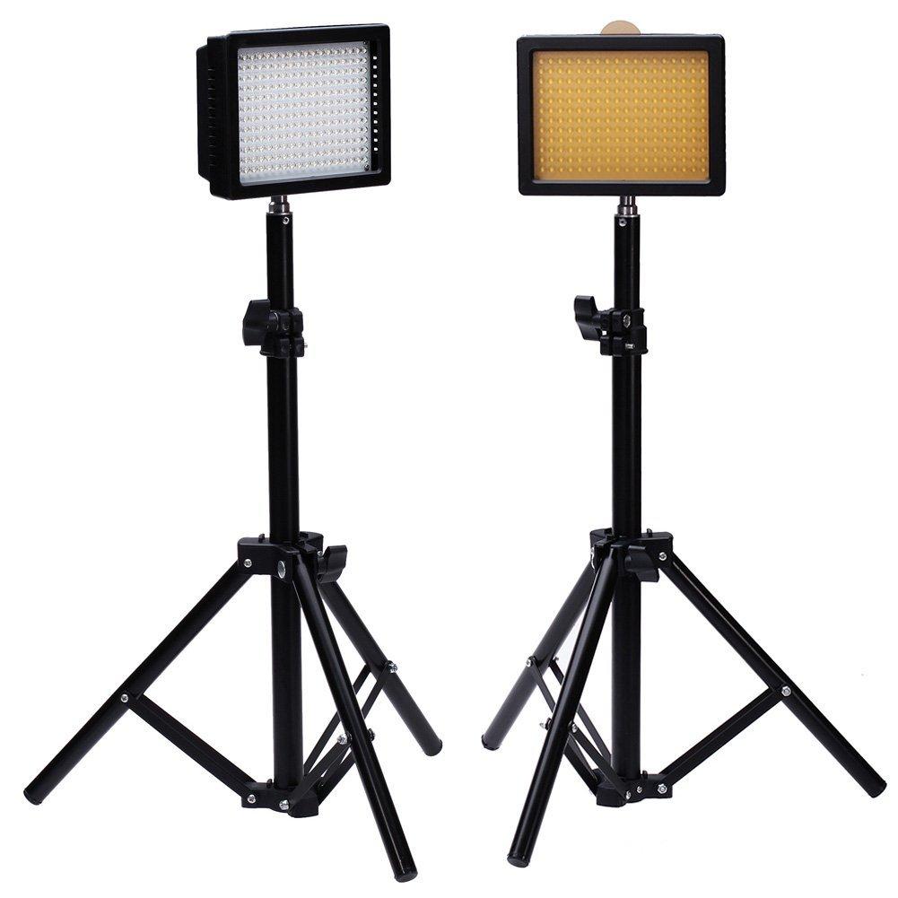 "Bestlight® Photography 216 LED Studio Lighting Kit, including (2)W216 Dimmable Ultra High Power Panel Digital Camera DSLR Camcorder LED Video Light (2)32""/80cm Tall Photography Mini Light Stand"