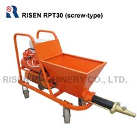 Small-size screw type cement mortar spraying machine / mortar pump for plastering the cement mortar on the wall