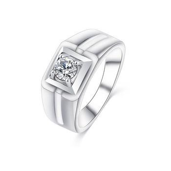 Sjk024 Simple Single Stone Ring Design Cubic Zirconia Eco Friendly Br 18k Gold Plating Solitaire