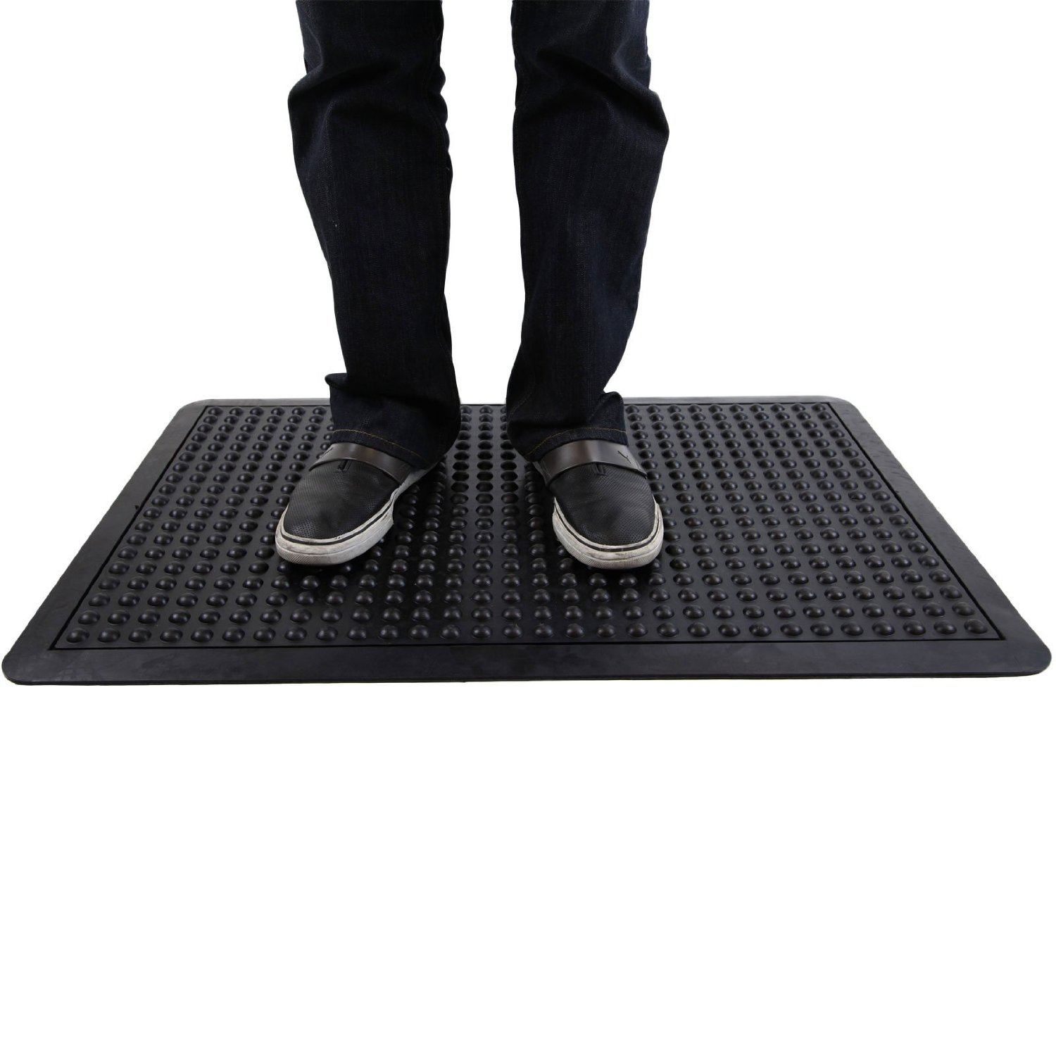 Get Quotations Incs Natural Rubber Anti Fatigue Mats Bubble Surface Beveled Edges