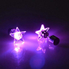 Fashionable Design Star Light Up Bling Led Ear Studs Pub Earring With Zircon Stone
