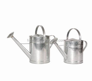 2 gallon galvanized steel metal watering cans 9L 10L