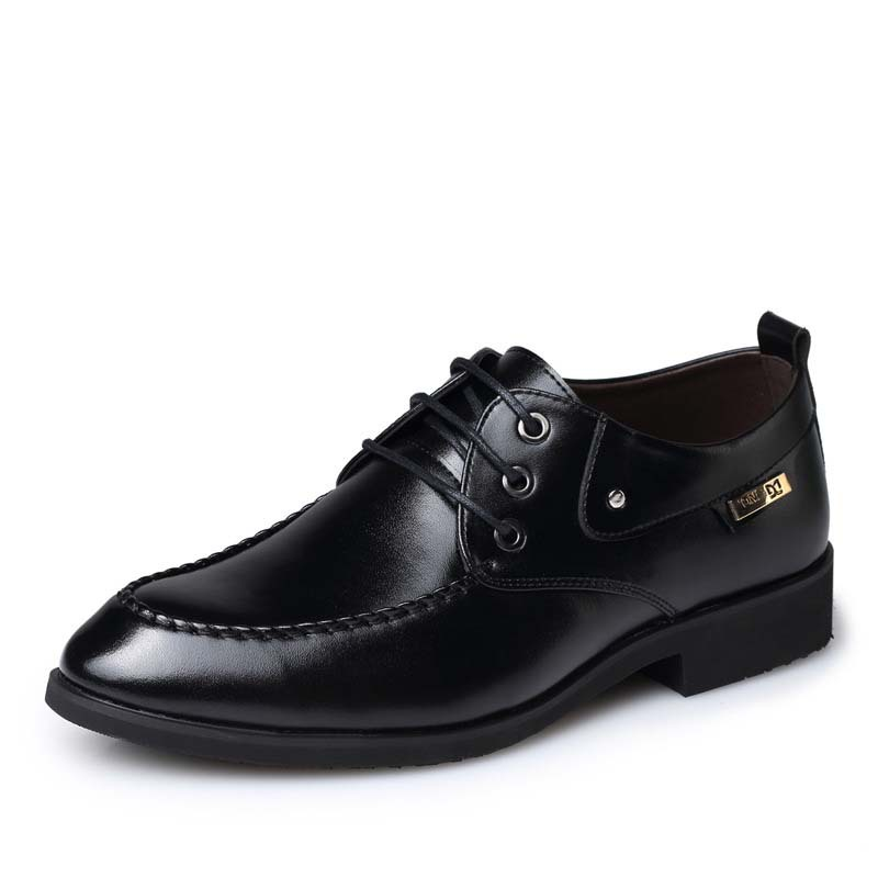 2015  Pointed Toe High Quality Soft Genuine Leather Men Oxfords Lace-Up Business Men Shoes Oxford Shoes Men Dress Shoes RME-114