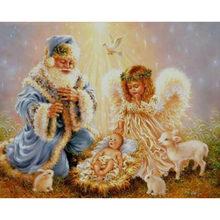 Картина с ангелами для алмазной вышивки(Китай)