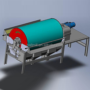 Dry And Wet Drum Magnetic Separator For Gold Ore Iron Ore Feldspar silica sand kaolin