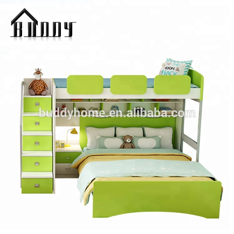 Lovely Sweet Heart Strong Kids Combination Bed Is Made By