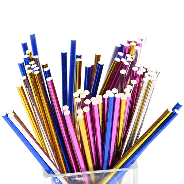 party paper straw 50pcs packed in pvc box