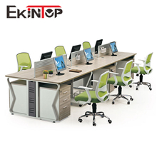 Modern standard sizes of modular 4 person office workstation for office furniture
