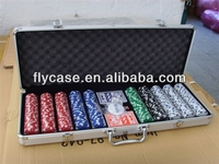 Aluminum black carrying top quality handy game case for mahjong at an affordable price