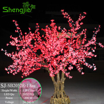 2017 Hot Sale 350cm Artificial Indoor Outdoor Lighted Cherry Blossom Led  Tree
