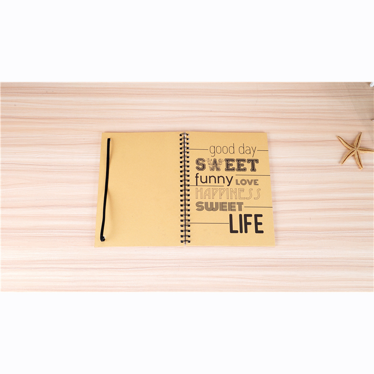 China Suppliers craft paper cover diary books A4 Coil Spiral notebook hand book