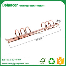 office stationery metal 6 ring binder clip/metal clip for Bindding paper