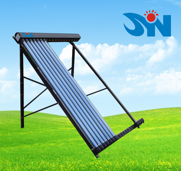 CE certificated both side open evacuated tube solar collector with professional solar water heater production