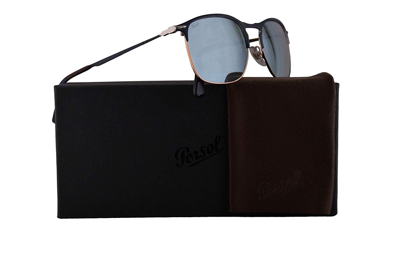 b8bf5c88596ae Get Quotations · Persol PO7359S Sunglasses Blue Bronze w Light Green Mirror  Silver Lens 58mm 107330 PO 7359
