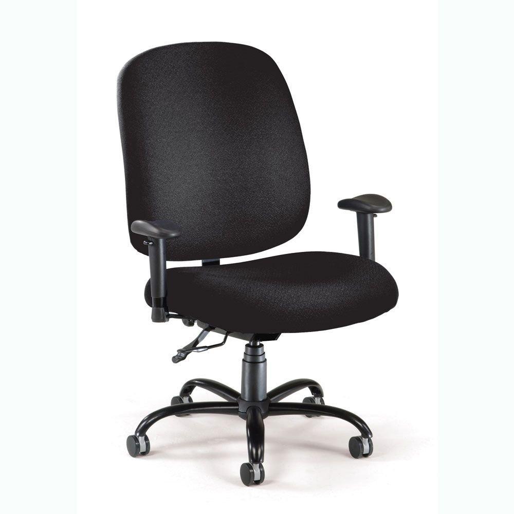 "OFM 700 Series Big & Tall Ergonomic Chair Dimensions: 29""W x 32""D x 40-43""H Seat Dimensions: 23.75""Wx23.75""Dx19.25-22""H Weight: 0 lbs. Black Fabric/Black Frame"