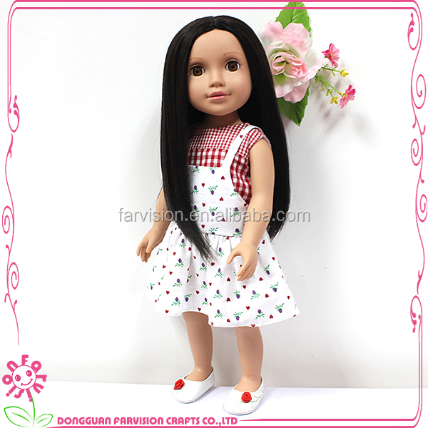 Baby doll handmade american doll with doll wig for wholesale