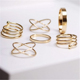 Charm Gold Color Midi Finger Ring Sets For girls vintage party rings