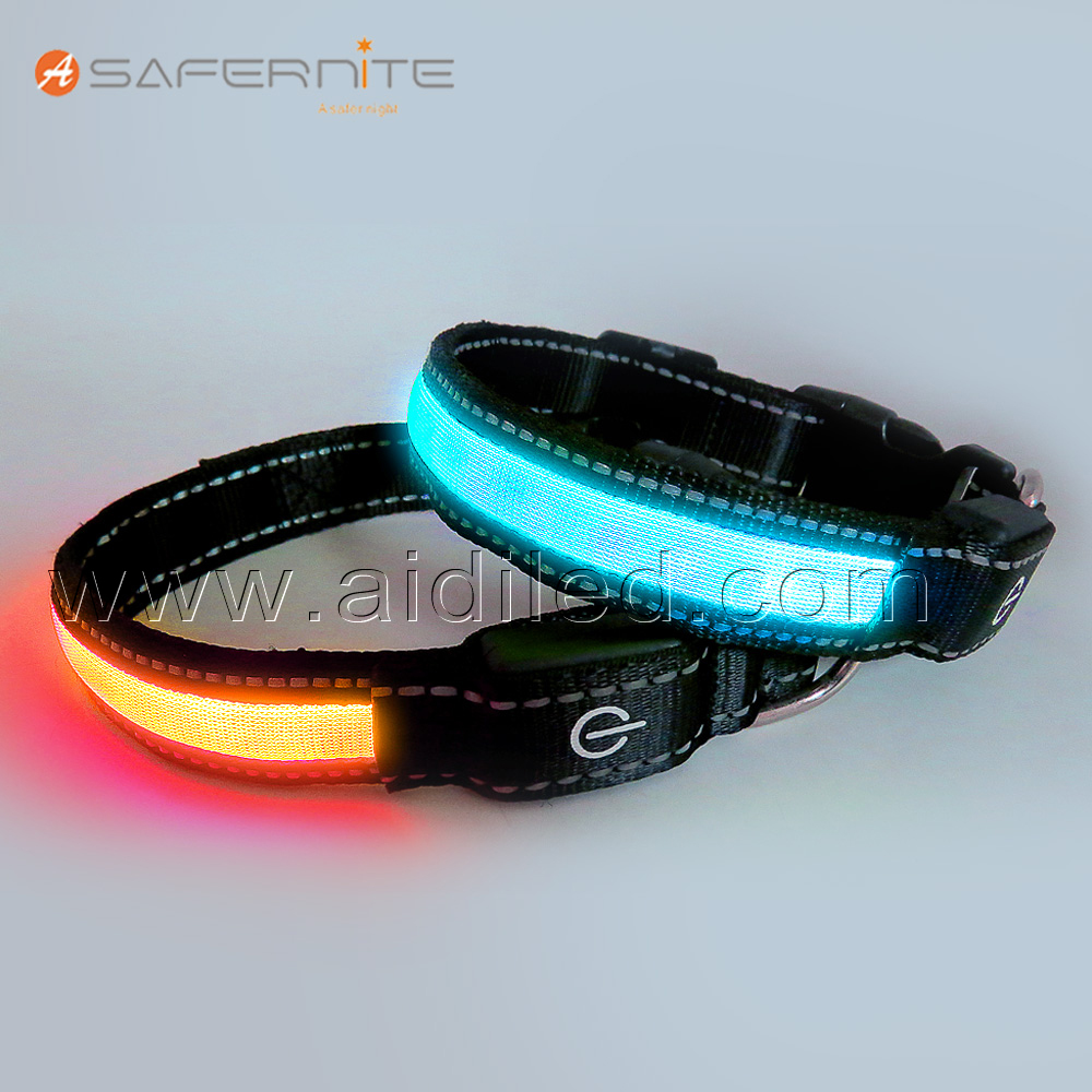 Adjustable Buckle Waterproof Led Christmas Light Pet Dog Collar