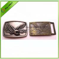 Silver/Brass Tone Enamel EAGLE Belt Buckle