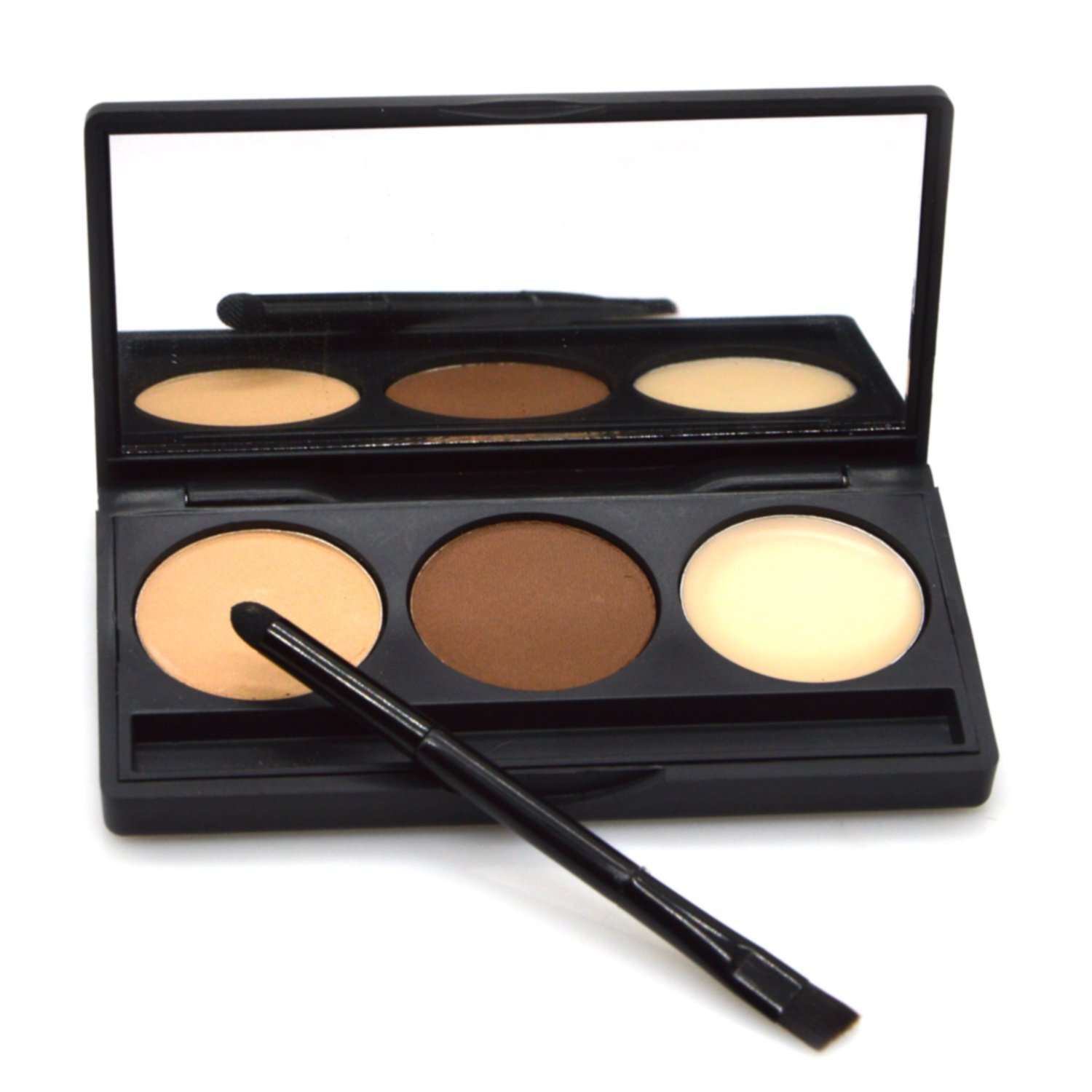 Buy Eyebrow Powder Kit Luismia 3 Color Trendy Makeup Brow Powder