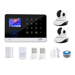 Different combinations of sensors smart control WIFI GSM wireless home alarm security system with RIFD card