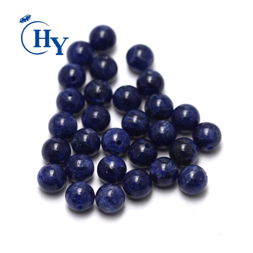 smooth gemstone beads 4-12mm wholesale blue natural lapis lazuli beads
