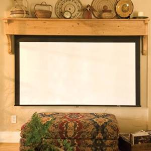 "Silhouette Series M Pearl White Electric Projection Screen Size: 96"" x 96"""