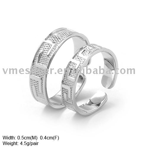 Plain Silver Couple Ring Adjustable Plain Silver Rings of Fashion Ring JZ307
