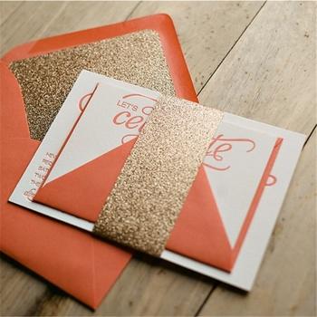 Classical paper cut silk indian scroll wedding invitation cards