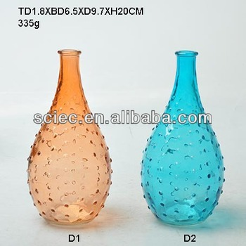 Clear And Colored Glass Vases For Decoration With Bubble Buy Glass