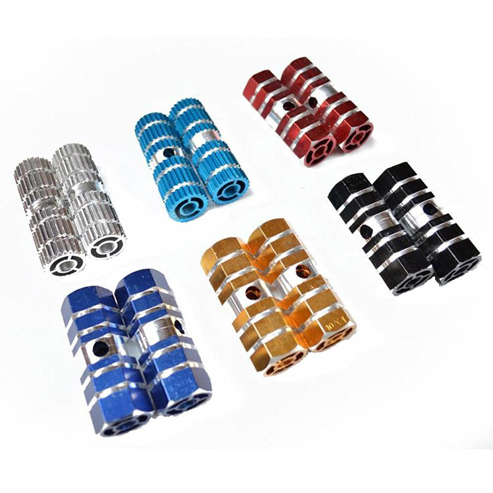 """*New Aluminum Alloy 3//8/"""" Axle Foot Pegs BMX Bike Bicycle MTB Black and Chrome"""