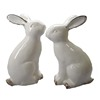 White bunny rabbit ceramic easter spring decoration figurine