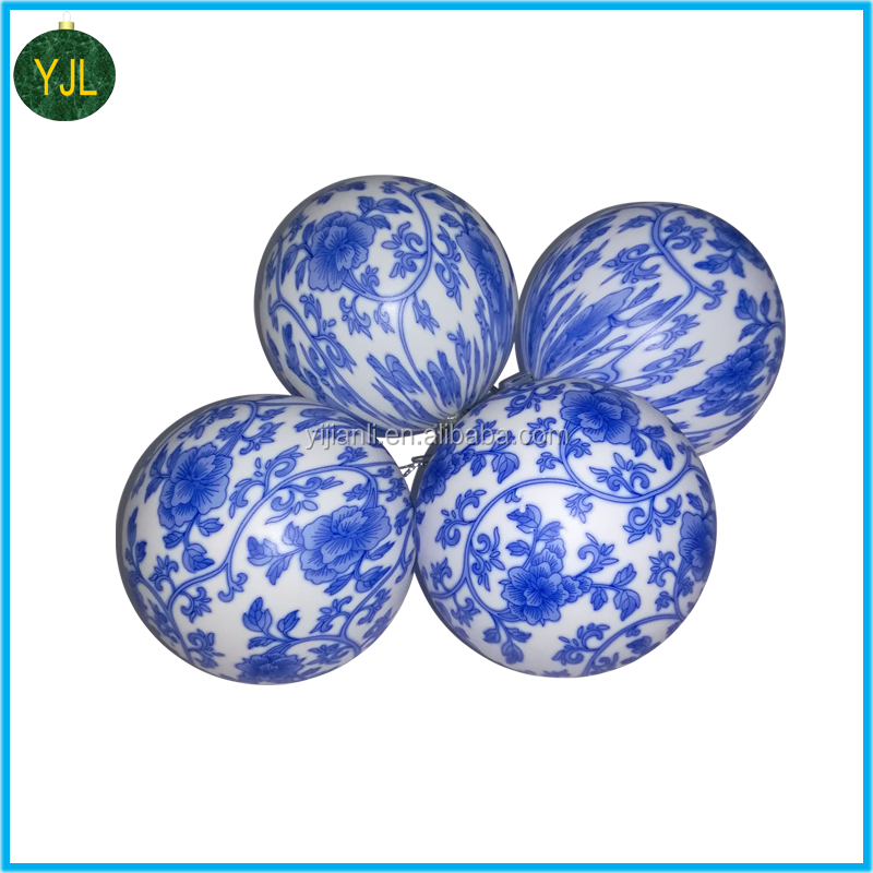 2017 new arrival high quality China OEM factory full printed christmas Balls