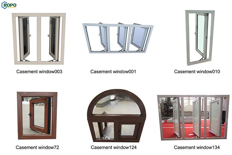Australian Standard AGGA French Rehau Geneo Vinyl UPVC Double Glazed Cheap Casement Windows