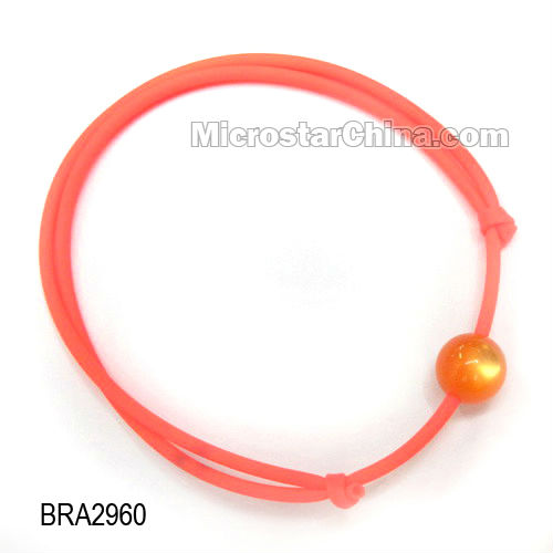 Fashionable colorful PVC Charm Bracelet for children,18-25cm in the length