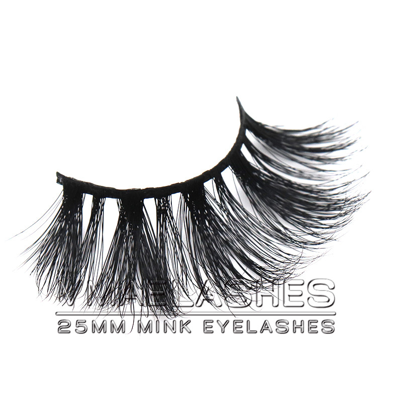 ff7693c7cb7 11) Vmae Private Label handmade 100% glossy vital Siberian Eye lashes  Strips 5D 25MM Long Fluffy Wholesale Mink Eyelashes Extension