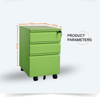 NEW PRODUCT colorful office equipment for A4 file cabinet 3 drawer mobile pedestal