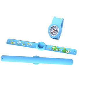 Customized luxury kids rubber silicone slap watch band
