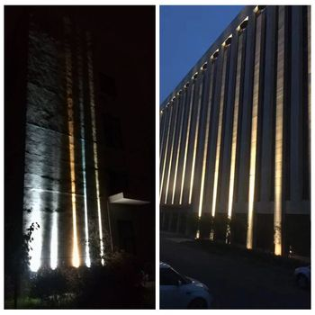 Aluminum Narrow Beam Angle Projection Light Exterior Wall Building Lighting Architectural Outdoor