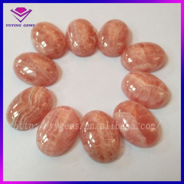 10*12mm Natural Rhodochrosite Stone Oval Cabochon Gems Beads