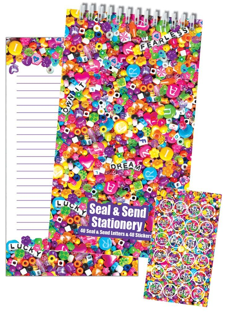 iscream 'Dozens of Donuts' Seal and Send 40 Sheet Stationery Pad with Sticker Seals
