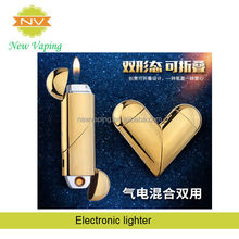 wholesale usb rechargeable Heart Shape electric USB lighter